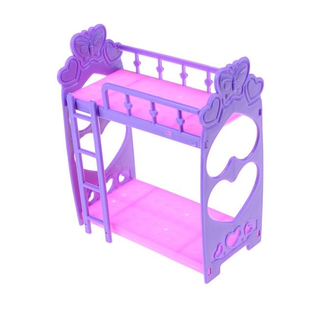 Lucu Boneka Tidur Tempat Tidur Plastik untuk Gadis Boneka Mini Kelly Doll Bermain  Aksesoris Rumah Hadiah 5c0cf7df60