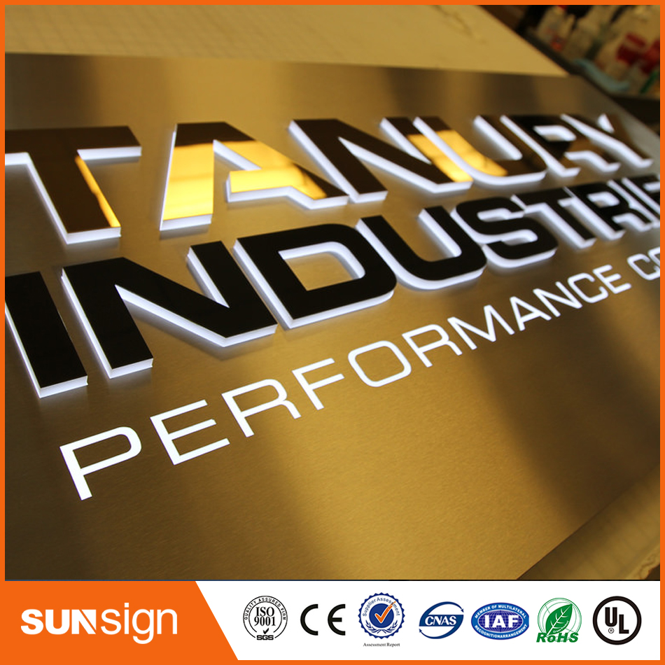 Rusty Resistant Durable Stainless Steel Backlit Led Channel Letter