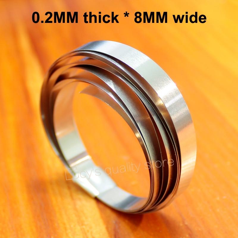 1m Nickel-plated Steel Belt 18650 Spot Welding Battery Diy Combination Connection Nickel Sheet 0.2mm Thick *8mm Wide