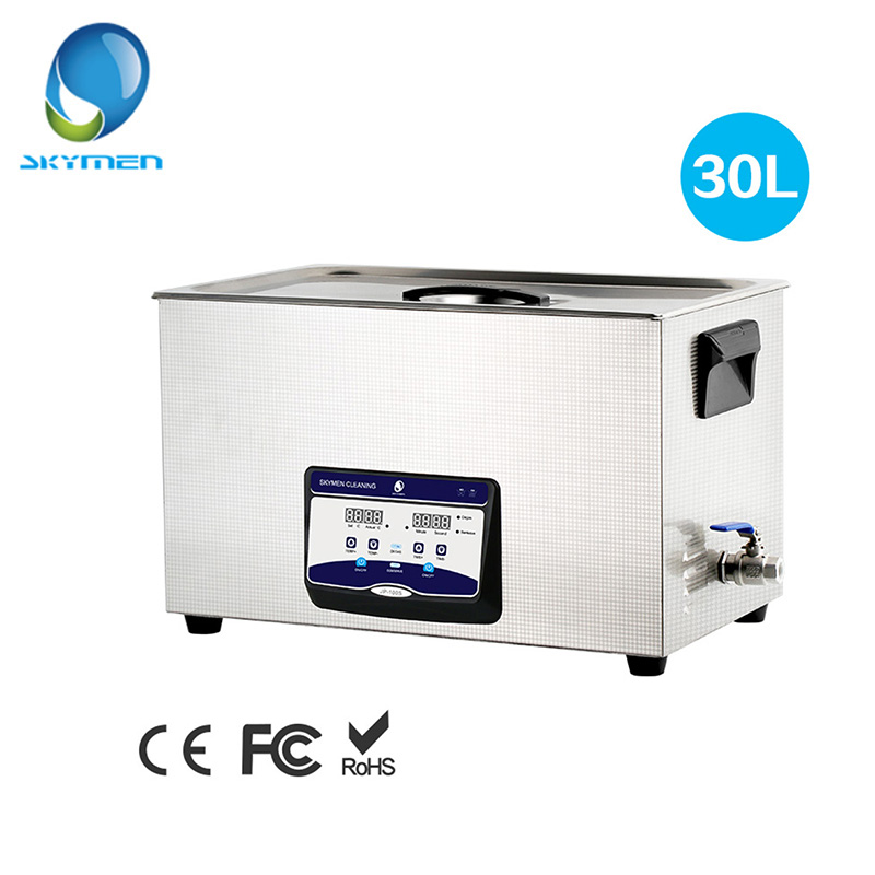skymen stainless steel bath 22l 480w 40khz ultrasonic cleaner 110 220v cleaner for circuit board printing dyeing instrument SKYMEN Digital Ultrasonic Cleaner Bath 30L 600W 40kHz Heater for Laboratory Medical Hardware parts Circuit board Golf Clubs