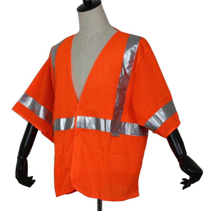 Short-sleeved high visibility reflective safety clothing Highways reflective overalls domestic standards