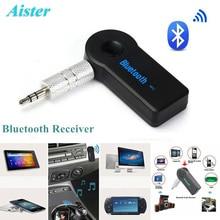 Streaming de Receptor Bluetooth Portátil 3.5mm Carro AUX Adaptador de Áudio Receptor de Música Sem Fio Bluetooth com Microfone para Telefone/PC