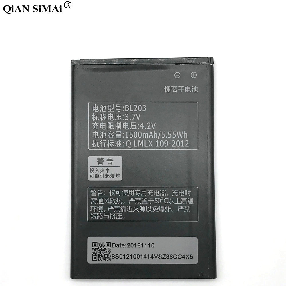 New High Quality BL203 1500mAh battery For Lenovo A66 A278T A365E A308T A369 A385E A318T phone image
