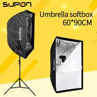 """Godox Portable 60*90 cm/24 """"* 35"""" Parapluie Photo Softbox Réflecteur pour La Photographie de Studio Flash Flash"""