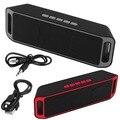 SC208 Bluetooth 4.0 Altavoz Portátil Inalámbrico USB TF FM Radio Dual Altavoz Bluetooth Subwoofer Bass Sound Altavoces