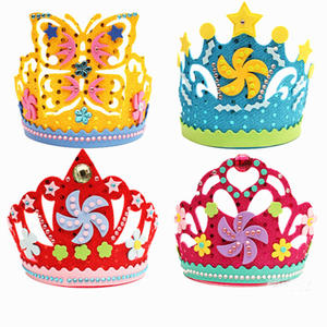 New EVA Foam Paper Sequins Crown Creative Flowers Stars Patterns Kindergarten Kids DIY Craft Toys Party Decorations Gift