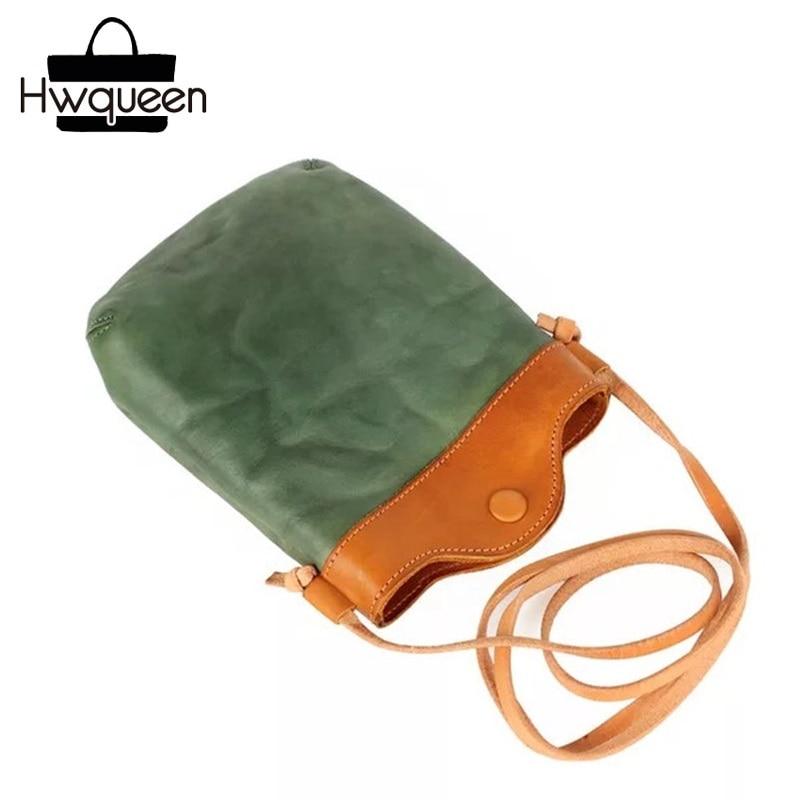 Color Mixing Designer Genuine Leather Female Crossbody Shoulder Bag Girls Phone Clutch Woman Small Messenger Bag