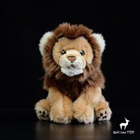 Plush Stuffed Animals African Lion Doll Toys For Children Present Real Life Home Decoration