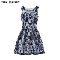 Irene Inevent Summer Women Print Floral Vest Dress Sleeveless A Line Party Fashion Dresses Vestidos De