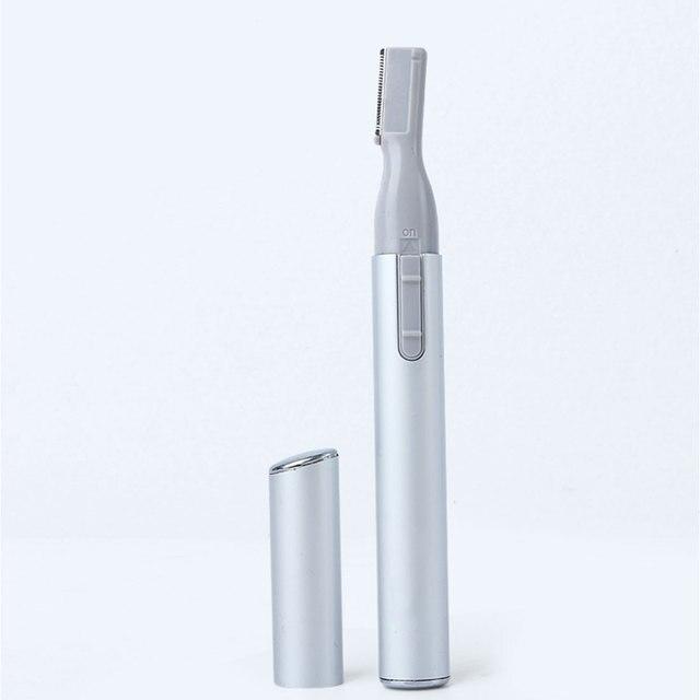 1PC Women Lady Electric Eyebrow Trimmer Face Body Leg Armpit Bikini Shaver Hair Remove Razor Washable Portable Epilator 1