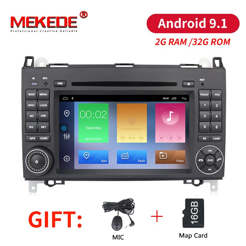 2 32G Android 9 1 2din Auto radio Car DVD multimedia for Mercedes Benz B200 A