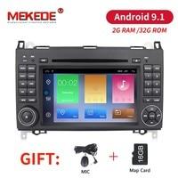 2 ГБ + 32 ГБ, Android 9,1 2din автомобильное радио для машины мультимедийный DVD для Mercedes Benz B200 A B класс W169 W245 Viano Vito W639 Sprinter W906