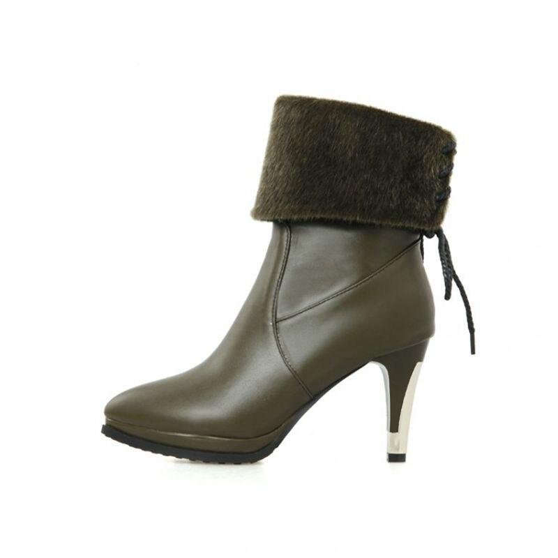2017 Winter Boots Botas Mujer Shoes Woman Fashion Motocicleta Mulheres Martin Outono Inverno Botas De Couro Women Boots Hq282