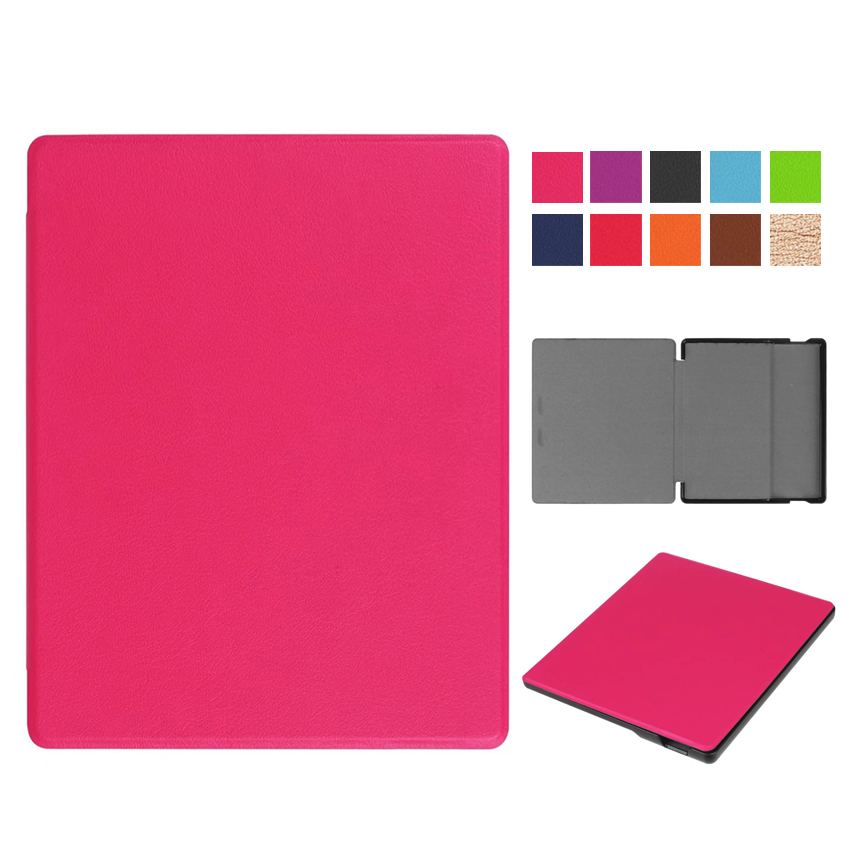 все цены на Kindle oasis 2017 Flip PU Leather Case Cover 7'' E-reader E-book Ebook Slim Protective Skin For Amazon kindle oasis 7 2017 Shell онлайн