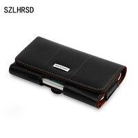 SZLHRSD Retro Genuine Leather Waist Belt Clip Pouch Cover For HomTom S9 Plus Case Phone Bag