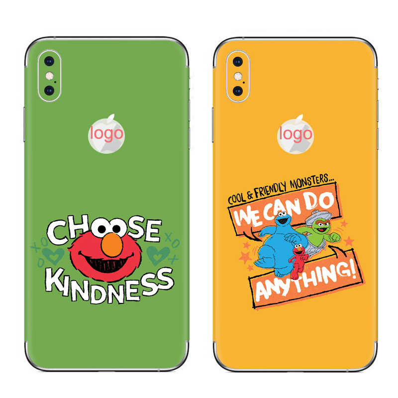 GOOYIYO-Dành Cho Iphone X XS Miếng Dán Điện Thoại XS Max XR DIY Decal Chất Lượng Cao 3M Vinyl Màu Da dành cho iPhone 6 6S 7 8 Plus Miếng Dán