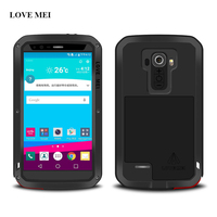 LOVE MEI Aluminum Metal Case For LG G4 5 5 Inch Shockproof Life Waterproof Cover G4