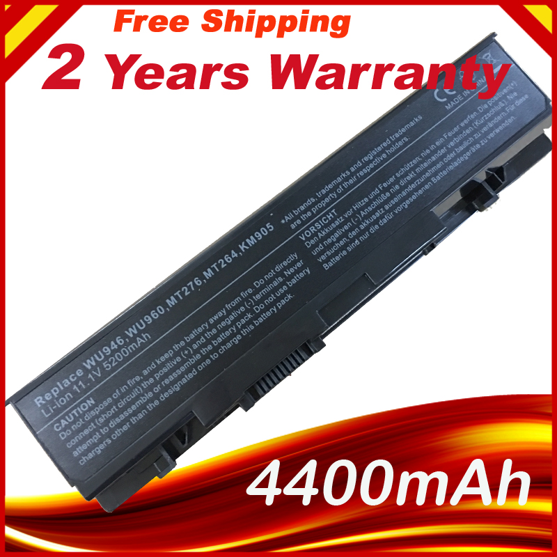 HSW NEW 6 CELLS Laptop battery For <font><b>Dell</b></font> <font><b>Studio</b></font> <font><b>1535</b></font> SERIES WU946 WU960 WU965 MT276 MT264 KM905 PW773 KM904 FREE SHIPPING image