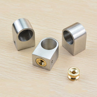 304 Stainless Steel Pipe Fittings Base Kitchen Hanging Rod Seat 19mm Round Steel Tube Pipe Accessory
