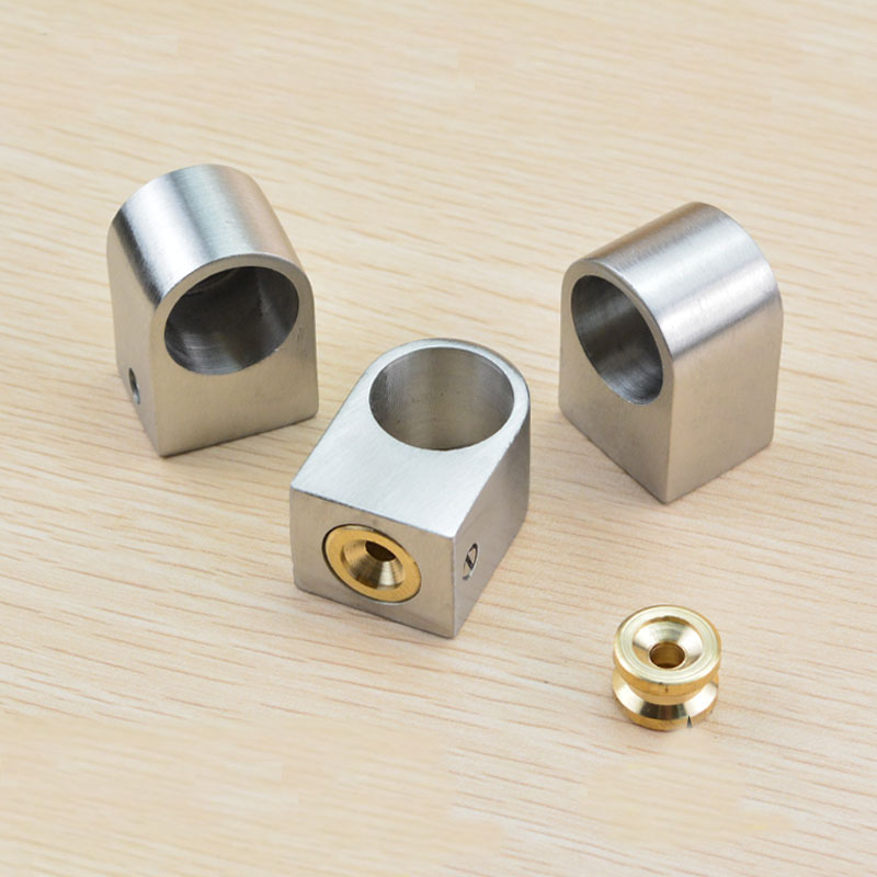 Stainless steel pipe fittings base kitchen hanging rod