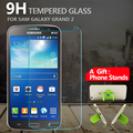 Prêmio de vidro temperado protetor de tela para samsung galaxy grand 2 anti-shatter vidro película protetora para grand 2 g7106 + gift