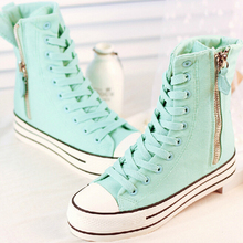 2016 Hot zapatos mujer Sapatos Tenis Masculino  Fashion Autumn Winter Boots For Casual High Top Canvas shoes woman s91