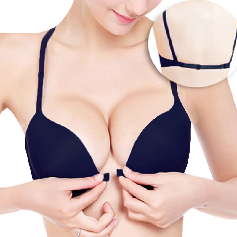 aa9565aafa8 super push up bra for small breast young girls front closure women sexy bra  Deep V