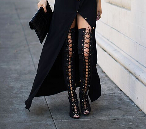 cheap lace up knee high boots   Gommap Blog