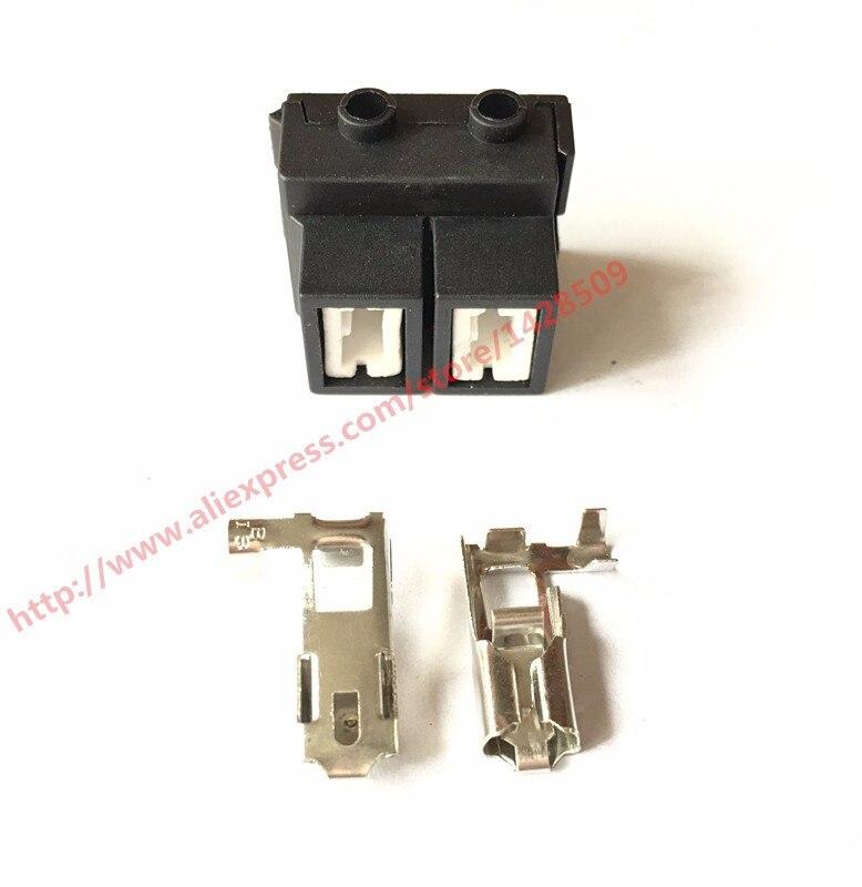 10 Set Kit 2 Pin Ceramic Headlight Socket High Voltage LED Auto Connector H7 2B