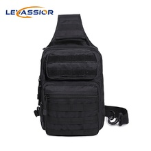 Sport Hunting Men Military Tactical Chest Bag MOLLE Single Shoulder Crossbody Bags Nylon Unisex Sport Hiking Wading Chest Pack
