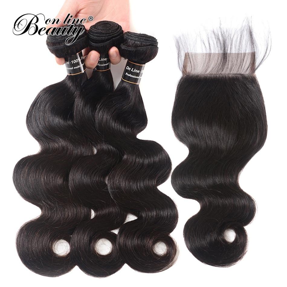 Body Wave csomagok bezárása Brazilian Hair Weave emberi haj 3 - Emberi haj (fekete) - Fénykép 2