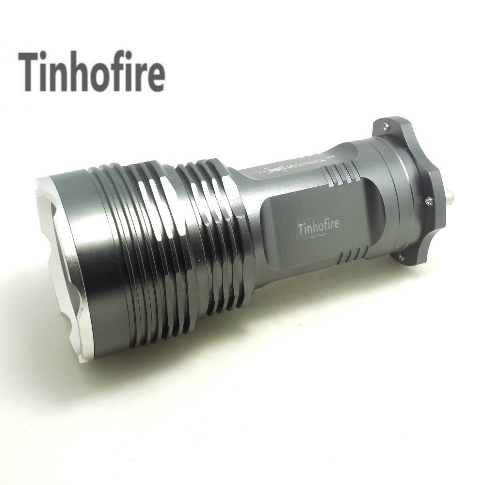 Tinhofire 35W Hot Sell 6000 Lumens CREE XML XM-L 5x T6 LED Flashlight Torch USE 4x 18650 Lamp light e17 cree xm l t6 2400lumens led flashlight torch adjustable led flashlight torch light flashlight torch rechargeable
