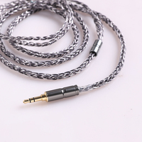 BGVP DS1 DM5 MMCX Pure Silver Plated OCC Earphone Cable 6N 8 Core 400 Wire 3.5mm 2.5mm Balancing Cable for SE864 FX1100 535