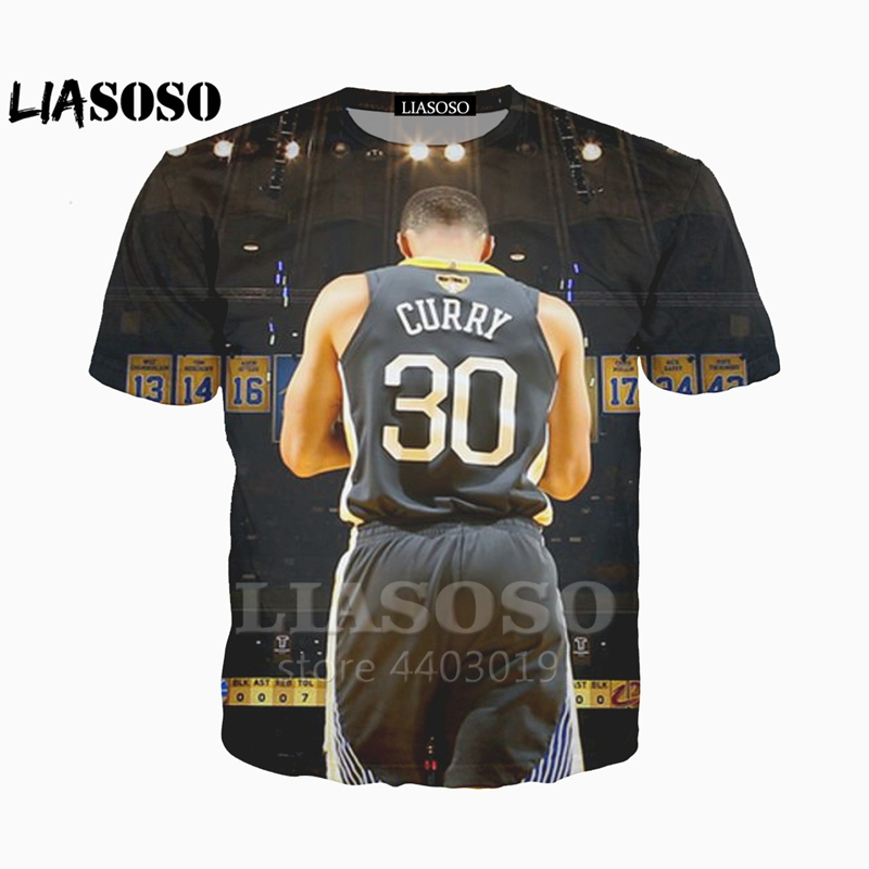 the best attitude 844dc 30eb0 LIASOSO New basketball All-Star Stephen Curry/Lebron James/Kobe Bryant  printed 3d Man Women t-shirt Harajuku tshirt Tee A051-11