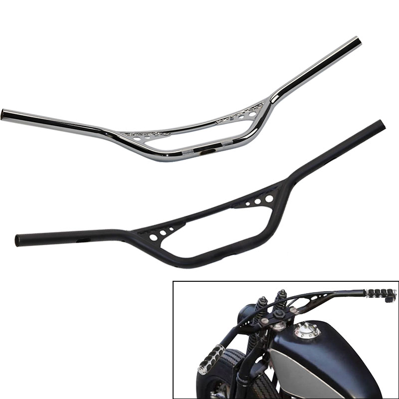 Black Silver Custom Motorcycle 1 inch Handlebars Handle Bar For Harley Dyna Chopper Bobber Sportster 48 883 1200 XL XL883 XL1200 motorcycle chrome front spoiler chin fairing for harley sportster xl883 1200 04 15 new
