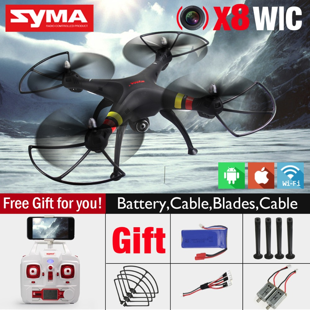 SYMA X8W FPV RC Quadcopter Drone with WIFI Camera 2.4G 6Axis Dron SYMA X8C 2MP Camera RTF RC Helicopter with 2 Battery VS X101 new arrival syma x8hg wifi fpv 3d rolling dron rc 2 4g remote control 6 axis rc drone hd camera rc quadcopter with led light