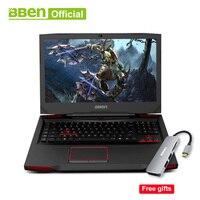 Bben G17 Win 10 Pro активированный ноутбук Intel i7 7700HQ Процессор 8 ГБ/16 ГБ/32 ГБ Оперативная память Беспроводной Wi Fi русско английский язык клавиатуры