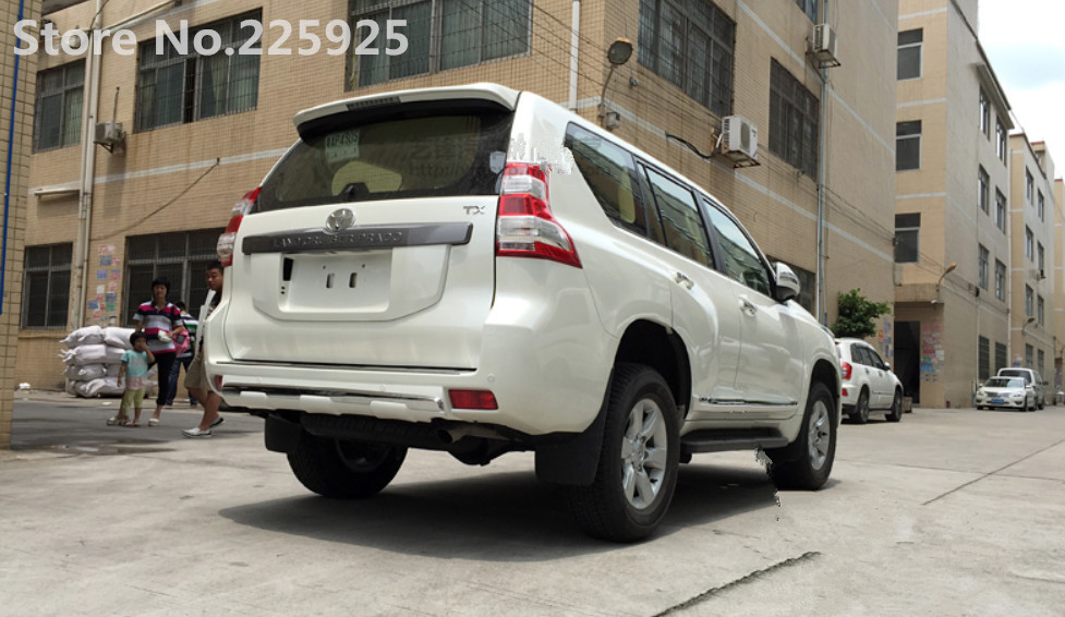 For Chrome Pearl White Rear Bumper Protector Cover Toyota Prado FJ150 2010-2017