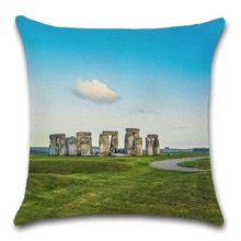 The world Famous View scenery Stonehenge photos pillow case Cushion Cover decoration for home sofa chair seat friend kids gift