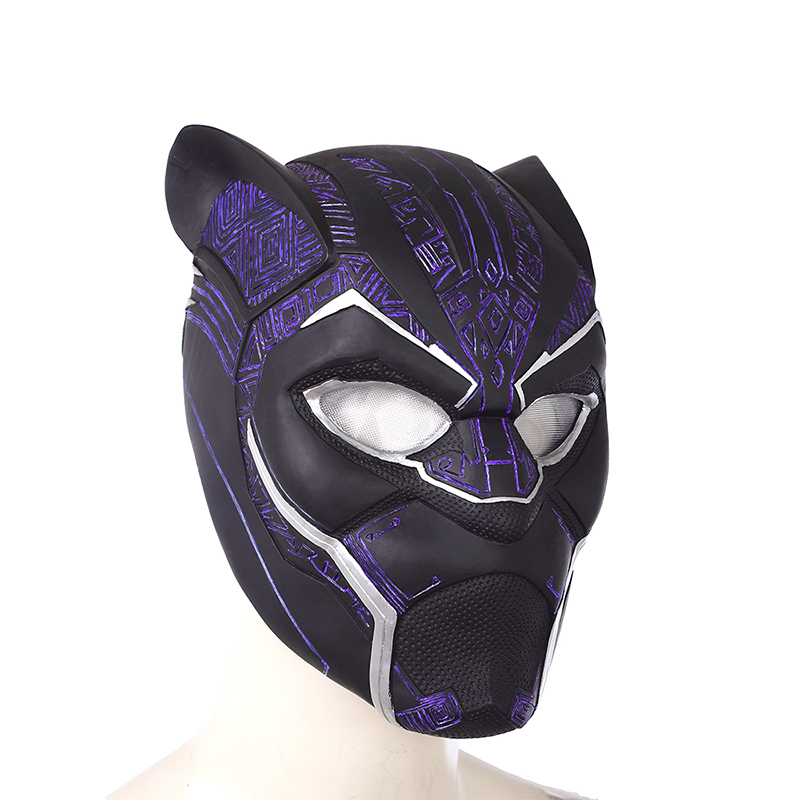 2018 Black Panther Helmet Avengers Infinity War Power Black panther Blue Black Panther Superhero Helmet PVC (5)