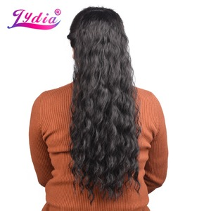 """Lydia Synthetic 18""""-24"""" Bouncy Curly Hair With Two Plastic Combs Ponytail Extensions Long Hairpiece All Colors Available Blonde(China)"""