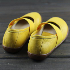 Image 4 - Women Genuine leather flat shoes oxford Casual Shoes woman Flats sneakers Female Footwear shoes 2020 new spring yellow black