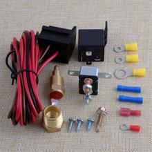 DWCX 12V 4-контактный градусов Вентилятор охлаждения двигателя Термостат Датчик переключения температуры реле комплект для 265 283 305 307 327 350 383