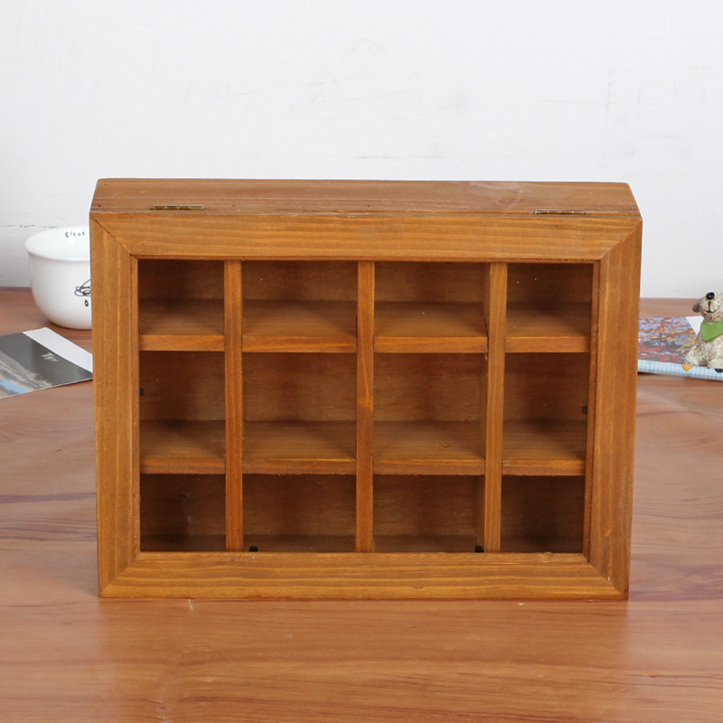 12 Lattice Handmade Boxes Wood Crafts Treasure Chests Vintage Wooden Multifunction Jewelry Antique Trinket Storage Box mid century wooden desk