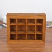 12 Lattice Handmade Wood Crafts Storage Treasure Chests Vintage Wooden Multi Function Jewelry Box Antique Trinket Storage Box