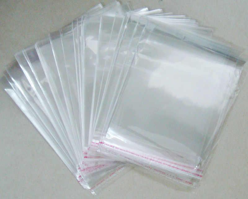 OMH atacado 200 pcs 5x7 cm 100% NOVA OPP adesivos auto-adesivas transparentes sacos de plástico PP para a Jóia exibição presente PJ369-1