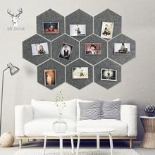 10Pcs 3D Fühlte Hexagon Brief Nachricht Bord Foto Display DIY Art Home Büro Planer Zeitplan Bord Wand Dekoration Memo halter