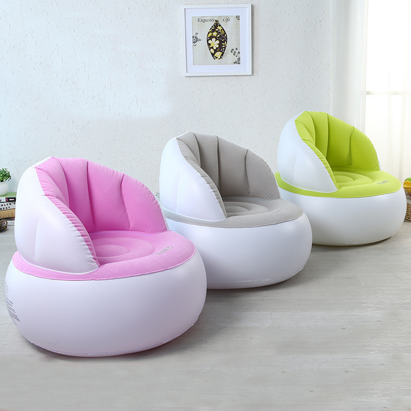 flocked inflatable sofa chair. Black Bedroom Furniture Sets. Home Design Ideas