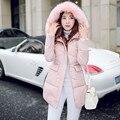 Para mujer Chaquetas de Invierno Y Abrigos Nuevo 2016 de Corea las Mujeres Traje Militar de Invierno Largos, suelta Gruesa Abajo Chaqueta de Abrigo de Venta Al Por Mayor