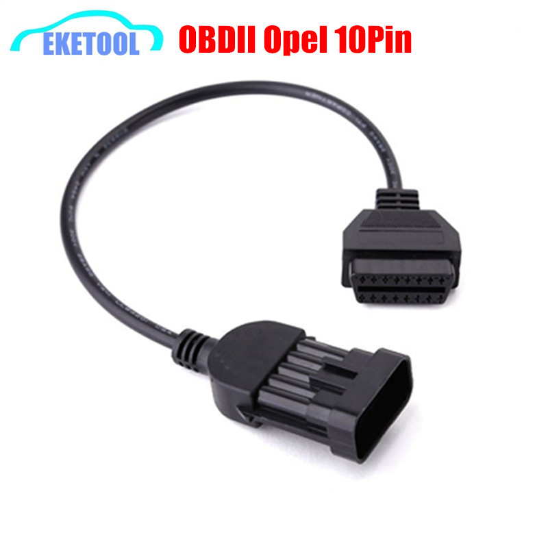 OBDII Extension Cable Opel 10Pin To OBD2 16Pin Female Diagnostic Connector Cable OBD OBD II Opel 10 Pin Diagnosis Adapter